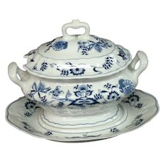 Blue Danube Oval Tureen With Underplate