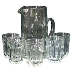 Heisey Puritan (Colonial) Pattern #341 Beverage Set