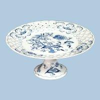 Blue Danube Pedestal Cake Plate