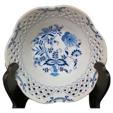 Blue Danube Pierced Fruit Bowl