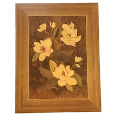 William Bader Inlaid Wood Marquetry Plaque