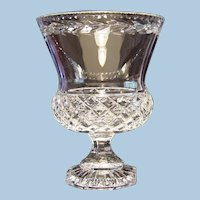 Large Crystal Footed Vase Made in Poland