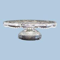 Vintage Cut Glass Pedestal Cake Stand