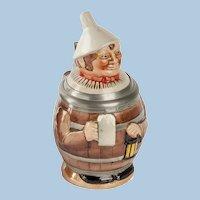 German Man in Barrel Stein