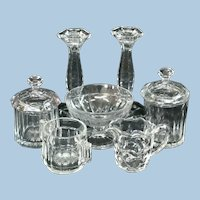 Heisey Glass Candle Sticks & Assorted Pieces