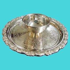 Oneida Silver Plate Chip & Dip