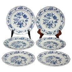 6 Vintage Blue Danube Bread & Butter Plates