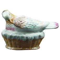 Southwick Pottery Dove on Nest Circa 1880