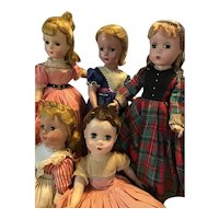 "Little Women Set of 5 By Madame Alexander, 14"", 1950."