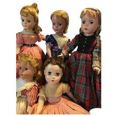 "Little Women Set of 5 By Madame Alexander, 14"", 1950."