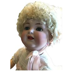 """German Bisque K *R Fully Jointed Toddler, 20""""."""