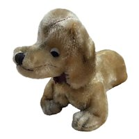 Vintage Mohair Dachshund with google eyes, So Cute!