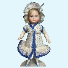 "German All Bisque, painted eyes, 6 1/2"" Mignonette"