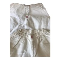 Vintage cotton Chemise and Pantaloon for French or German Bisque