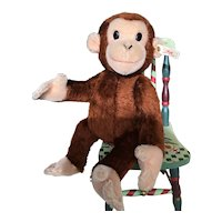 "Steiff Curious George Monkey, 14"""