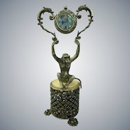 C1890's Cartier Sterling silver Figurine Music Box