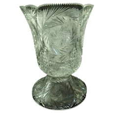 Huge 19-century American Brilliant Cut crystal Footed Champagne bucket