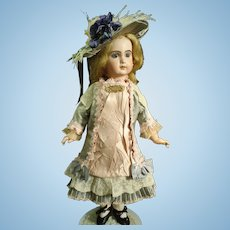 Magnificent French Silk & Lace BEBE Dress & Bonnet for your BRU JUMEAU STEINER Doll