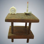 c1900's handmade Dollhouse Mahogany card/game table