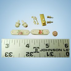 Dollhouse miniature Door hardware