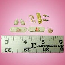 Dollhouse miniature Door hardware