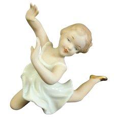 Wallendorf Art Deco Ballerina Dancing Girl Porcelain Figurine Germany 1930 Rare