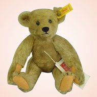 """STEIFF TEDDY BEAR Margaret Woodbury STRONG MUSEUM 1904 Replica mohair Jointed 9.5"""" tall"""