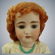"Antique C.M. Bergmann Walterhausen German 29"" Bisque Doll in Antique dress"