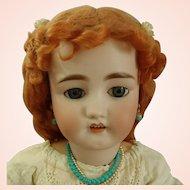 """Antique C.M. Bergmann Walterhausen German 29"""" Bisque Doll in Antique dress"""