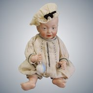 "Rare Antique Bisque Kaiser Baby KR 100 11"" in Original Costume"