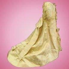 Rare 1890's French fashion doll bustle promenade silk dress