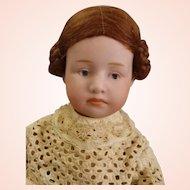 "Rare German Gebrüder Heubach Pouting Character Doll 9"" tall Antique dress"