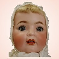 Life-size Kestner 262 Antique Bisque Character Baby w/ working voice box Ma-ma