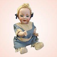 JDK Kestner Solid Dome Baby Jean known as Hilda's sister in lovely Antique Dress