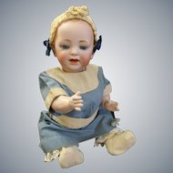 JDK Kestner Solid Dome Baby Jean known as Hilda's sister in lovely Antique Dress