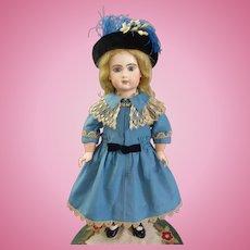 Gorgeous French Bebe Silk twill Dress & Bonnet