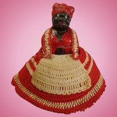 Black Americana Mammy Chalkware Pin Cushion Doll