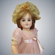 "Delightful Mon Cheri French Louis Leon Prieur Bisque Cabinet size 13.5"" Doll"