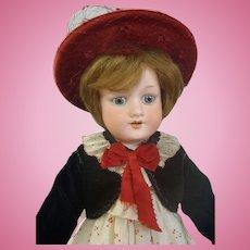"Adorable Cabinet size 17"" Armand Marseille 390 Antique Bisque Doll"