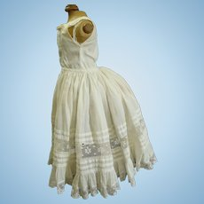 Incredible French Full Cotton Bustle Slip for Fashion or Bru Doll c. 1890's