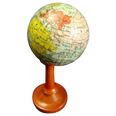Wonderful 1900's German 1¾-inch Miniature GLOBE Candy container Dollhouse decor