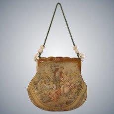 c1900's French Aubusson tapestry & Bakelite Ladies handbag