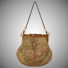 c1900's French Aubusson tapestry & Bakelite Ladies handbag