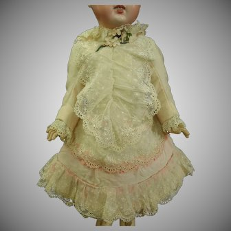 Pretty 19th century Antique Bebe Dress size 6
