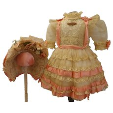 Exquisite Culture French Bebe Costume with Wire Bonnet