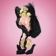 Beautiful French Silk Bebe Wire Bonnet