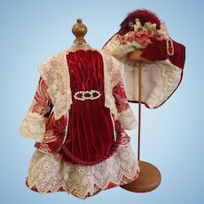 Wonderful Satin Silk 3 Piece Couturier BEBE Costume