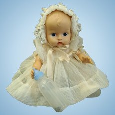 """1950s Vogue Ginnette Doll Painted eyes 8"""" long"""