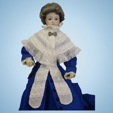 Wonderful Antique Original French Cotton Net Lace Shawl for Huret, Rohmer, Blampoix Enfantine Poupee Fashion doll 18-20""