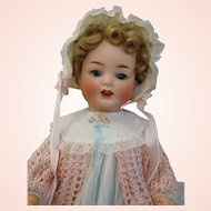 """Live size 25"""" Heubach Koppelsdorf Bisque Character Baby Doll"""